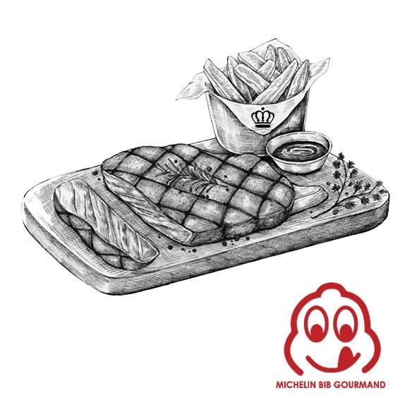 Menu Bib Gourmand Atelier Windsor - Michelin